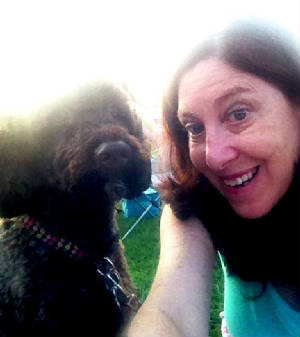 Latke and me at the park.JPG