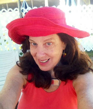 Pattie in orange hat.JPG