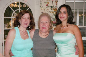 With Grandma Bunnie (center) before Allegra's prom.jpg