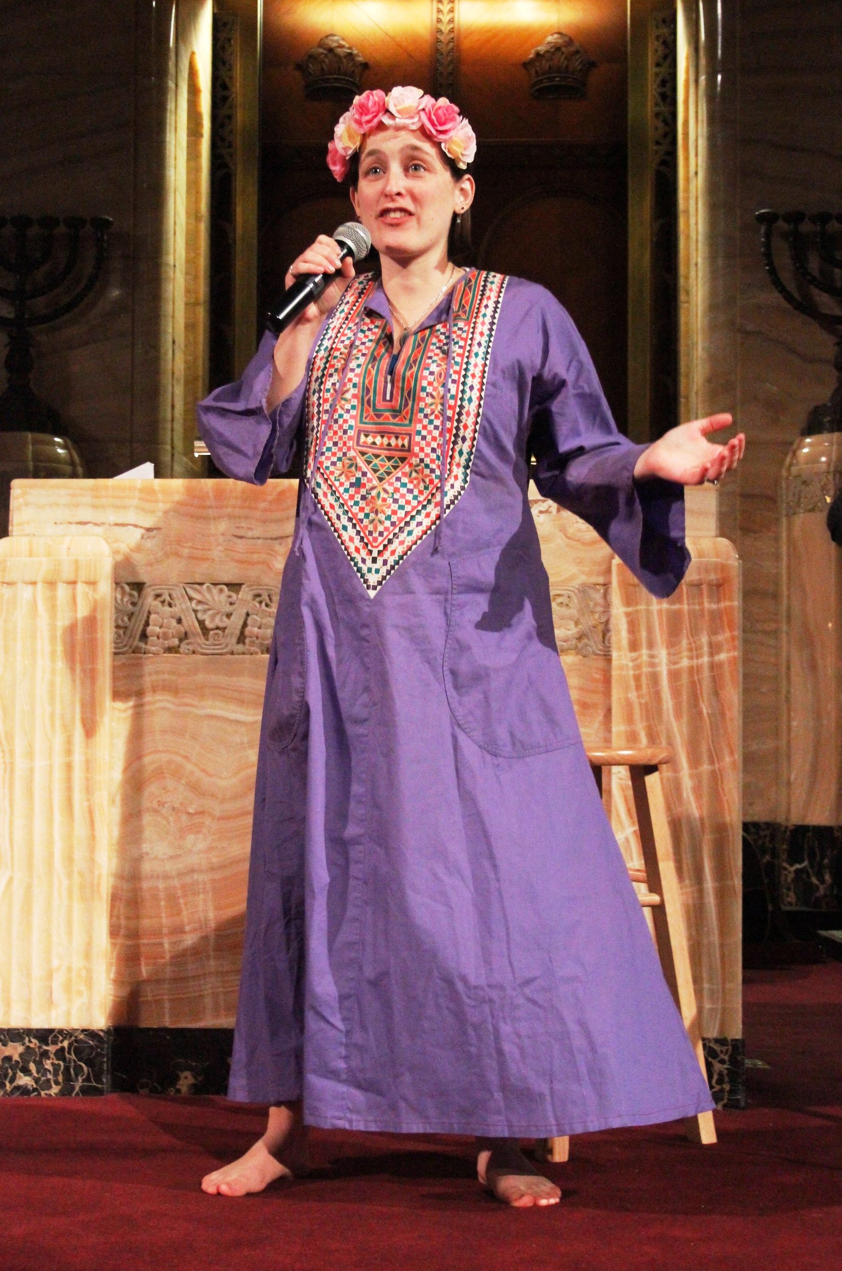 Across the Jewniverse Naomi as Esther.JPG
