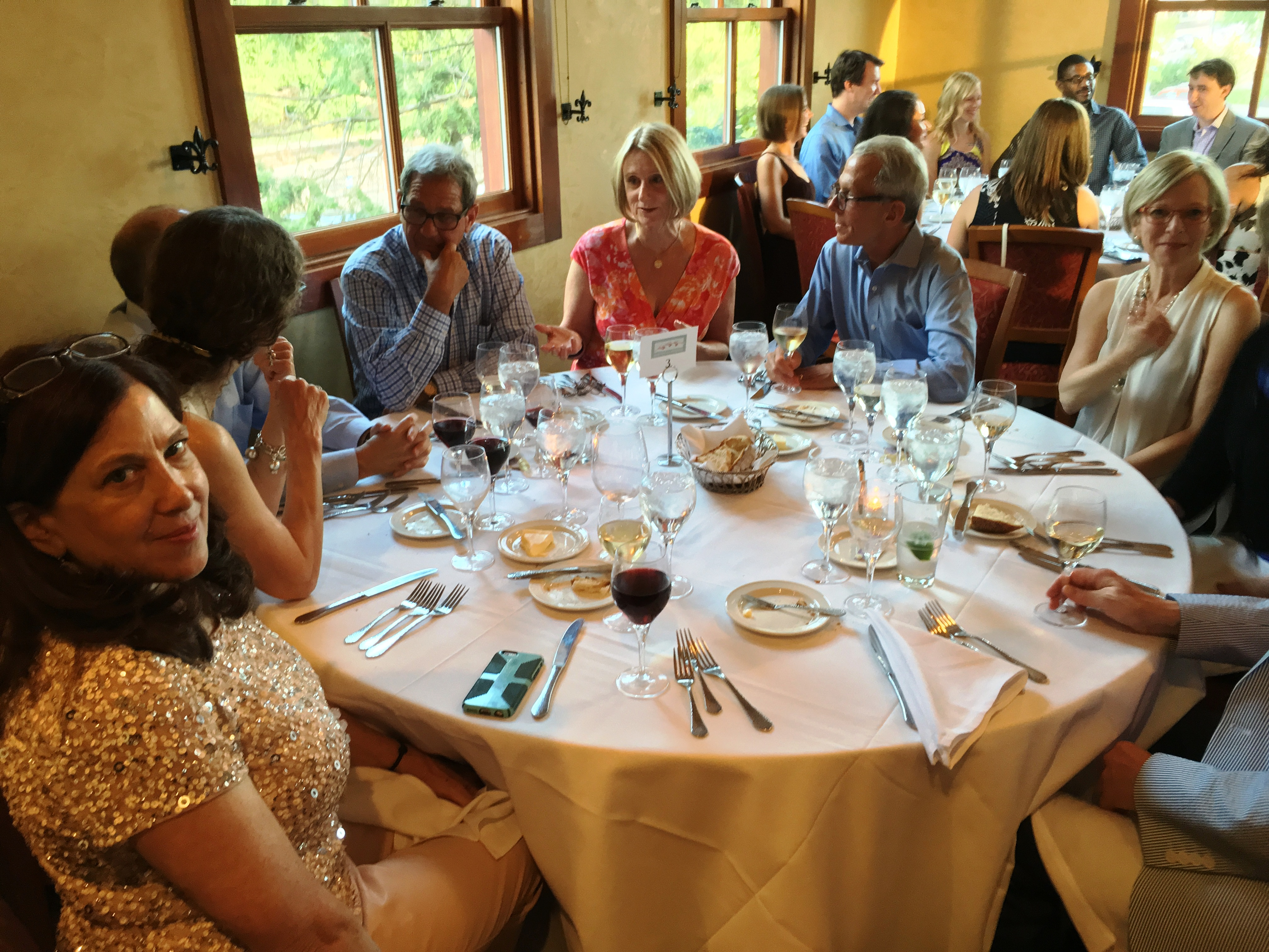 The rehearsal dinner was small.JPG