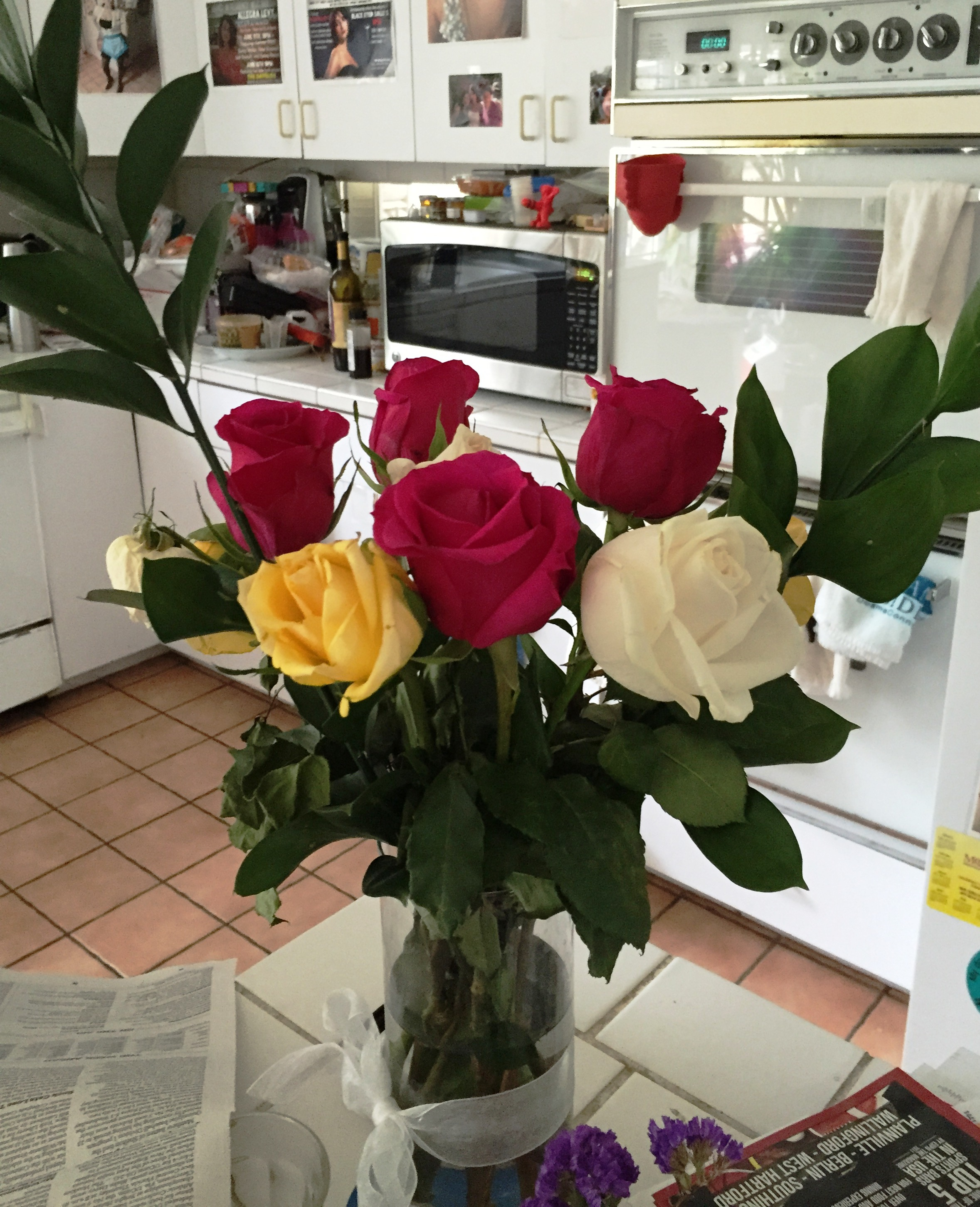 My husband bought me new roses.JPG